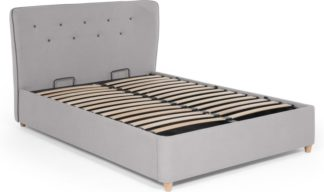 An Image of Burcot Double Storage Bed, Contrast Grey
