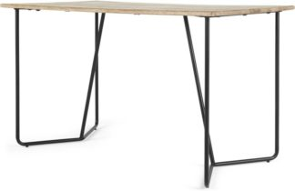 An Image of Hamilton Desk, Light Mango Wood and Black