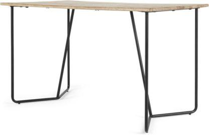 An Image of Hamilton Desk, Light Mango Wood and Black