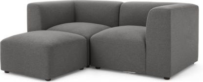 An Image of Juno 2 Seater Sofa with Footstool, Marl Grey