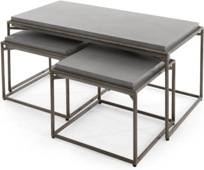 An Image of Zurn Nesting Coffee Table, Concrete
