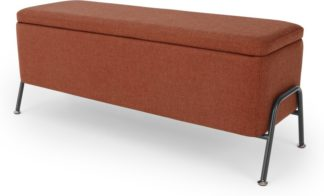 An Image of Knox Ottoman Storage Bench, Tiger Red Weave