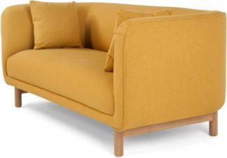 An Image of Becca 2 Seater Sofa, Yolk Yellow