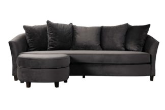 An Image of Morgan Three Seat Corner Sofa - Carbon