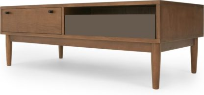 An Image of Campton Storage Coffee Table, Dark Stain Oak and Grey