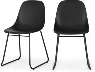 An Image of Set of 2 Duggie Dining Chairs, Black