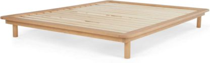 An Image of MADE Essentials Kano Kingsize Platform Bed, Pine