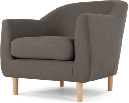 An Image of Tubby Armchair, Pewter Grey