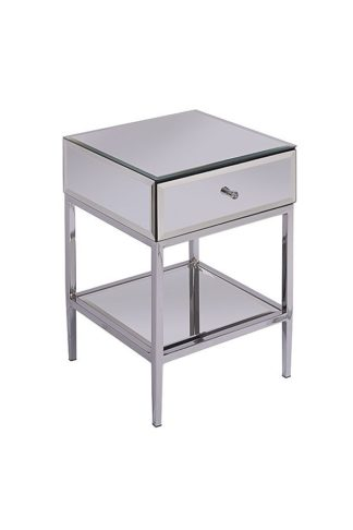 An Image of Stiletto Toughened Mirror Side Table