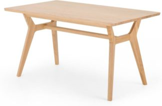 An Image of Jenson Up to 6 seat Dining Table, Solid Oak