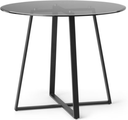 An Image of MADE Essentials Haku 2 Seat Round Dining Table, Black