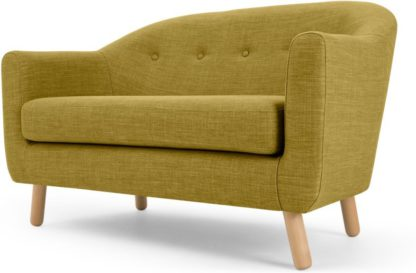 An Image of Lottie 2 Seater Sofa, Olive Green