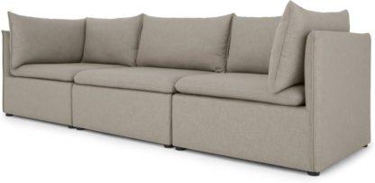 An Image of Victor 3 Seat Sofa, Portland Grey