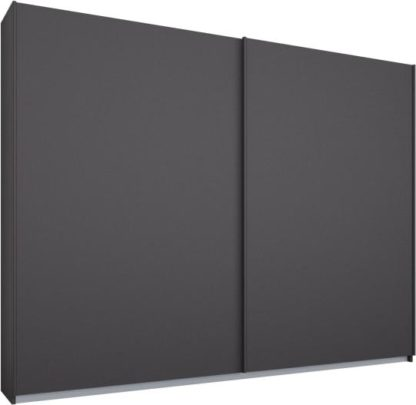 An Image of Malix 2 door 225cm Sliding Wardrobe, Graphite Grey frame,Matt Graphite Grey doors, Standard Interior
