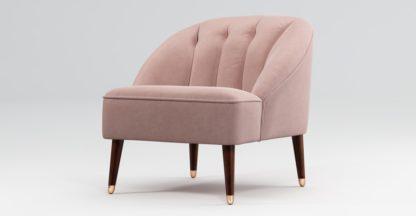 An Image of Custom MADE Margot Accent Chair, Pink Cotton Velvet