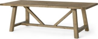 An Image of Iona 10 Seat Dining Table, Solid Pine
