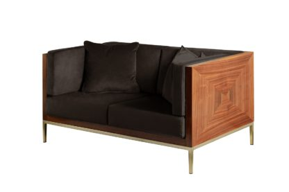 An Image of Ravello Two Seat Sofa - Black