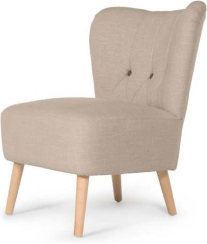 An Image of Charley Accent Armchair, Biscuit Beige