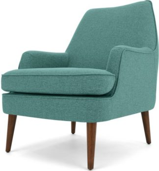An Image of Martha Accent Armchair, Glass Blue