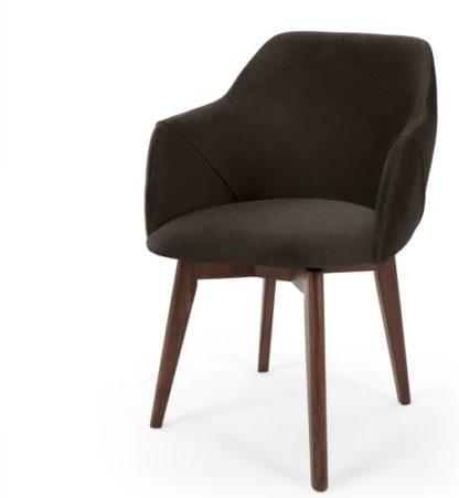 An Image of Lule Office Chair, Grey Velvet