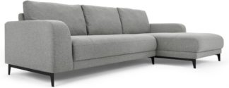 An Image of Luciano Right Hand Facing Chaise End Corner Sofa, Mountain Grey