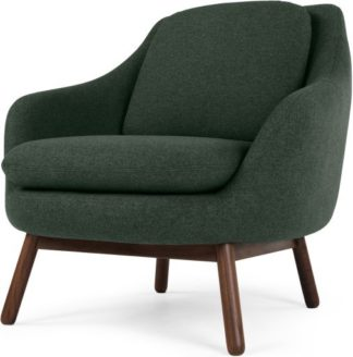 An Image of Oslo Accent Chair, Woodland Green with Dark Stained Legs