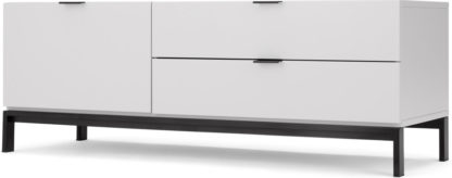An Image of Marcell Compact Media Unit, Light Grey