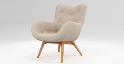 An Image of Custom MADE Doris Accent Chair, Shetland Pink