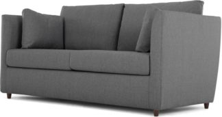 An Image of Milner Sofa Bed with Memory Foam Mattress, Night Grey