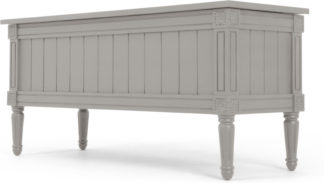An Image of Bourbon Vintage Ottoman Bench, Grey