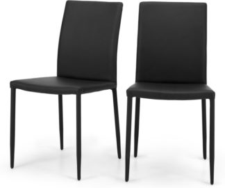 An Image of Set of 2 Braga Dining Chairs, Crow Black