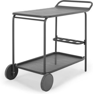 An Image of MADE Essentials Tice Garden Drinks Trolley, Grey