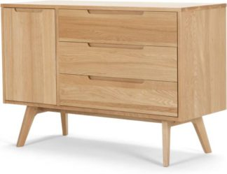 An Image of Jenson Compact Sideboard, Solid Oak