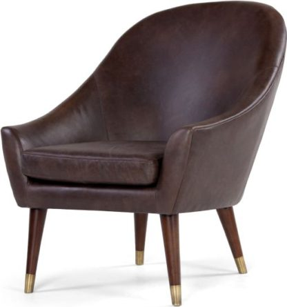 An Image of Seattle Armchair, Oxford Brown Premium Leather