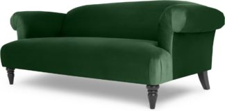 An Image of Claudia 3 Seater Sofa, Velvet Forest Green