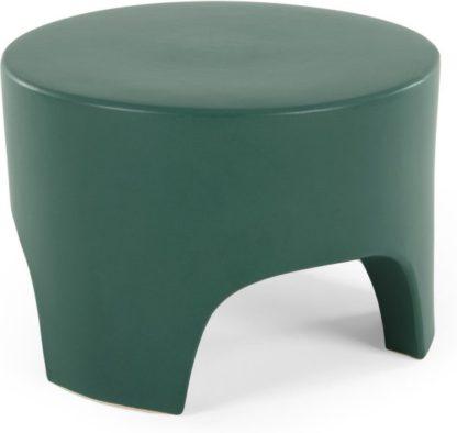 An Image of Rune Earthenware Tri Stool, Green