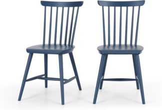 An Image of Set of 2 Deauville Dining Chairs, Slate Blue