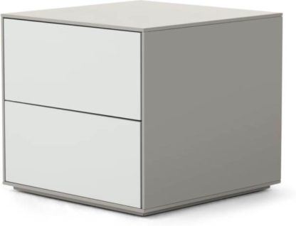 An Image of Stretto Bedside Table, Tonal Grey