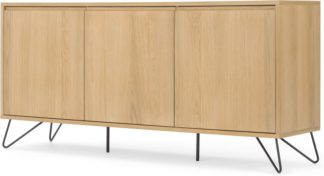 An Image of Cerian Sideboard, Oak and Black
