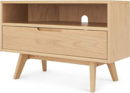An Image of Jenson Corner TV Stand, Oak