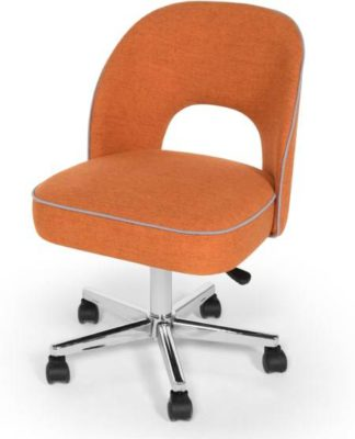 An Image of Lloyd Office Chair, Marigold Orange and Persian Grey