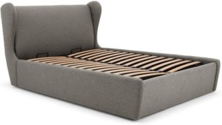 An Image of Rubens Double Bed With Storage, Nickel Grey
