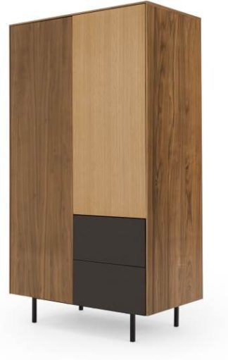 An Image of Rae Wardrobe, Oak and Walnut