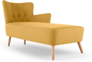 An Image of Charley Right Hand Facing Chaise Longue, Yolk Yellow