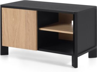 An Image of Brook Media Unit, Oak and Black