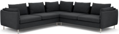 An Image of Vento 5 Seater Corner Sofa, Sterling Grey