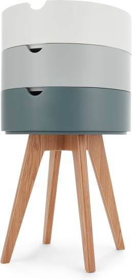 An Image of Cairn Bedside Table, Grey