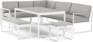 An Image of Catania Garden Corner Dining Set, White