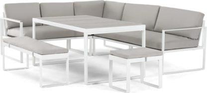 An Image of Catania Garden Corner Dining Set, White