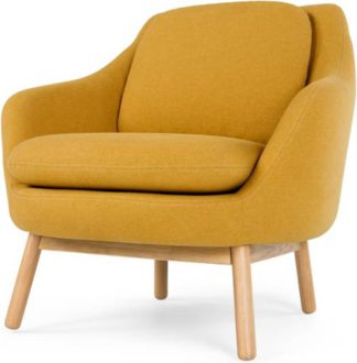 An Image of Oslo Accent Chair, Yolk Yellow